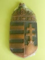 Forcell magyar címer antikolt bronz 15x30,5