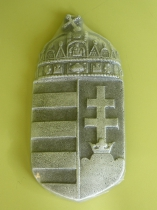 Forcell magyar címer antikolt ezüst 15x30,5