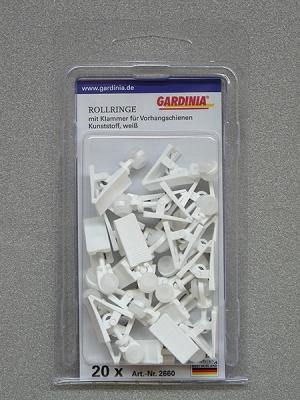 Gardinia görgő csipesszel 2660