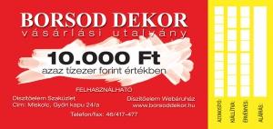 Vásárlási utalvány (10.000 Ft)