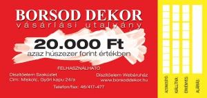 Vásárlási utalvány (20.000 Ft)