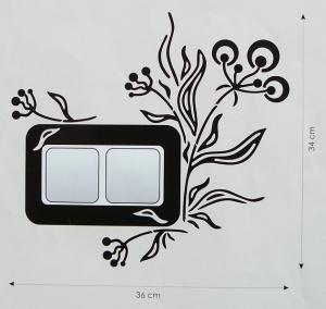 Velvet Concept Bogyó (dupla) Villanykapcsoló-dekor