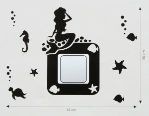 Velvet Concept Hableány Villanykapcsoló-dekor