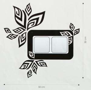 Velvet Concept Levél (dupla) villanykapcsoló-dekor