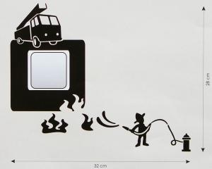 Velvet Concept Tűzoltó Villanykapcsoló-dekor